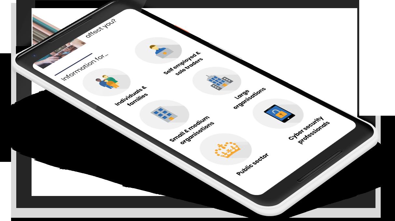 NCSC audience-based navigation design on mobile