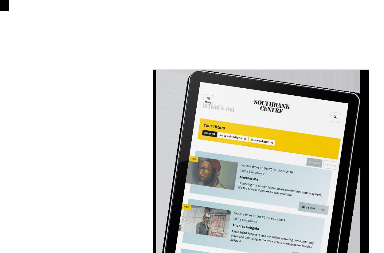 Webpage on Southbank Centre
